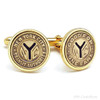 Subway Token Gold Plated Cuff links