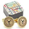 Subway Token Gold Plated Cufflinks