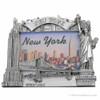 Silver NY Skyline Photo Frame