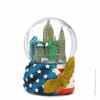 Patriotic NYC Skyline Snow Globe