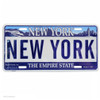 souvenir novelty new york state license plate embossed, legal size