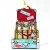 Travel suitcase Christmas ornament