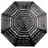 New York Umbrella, Repeat Text, Black and White