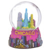 Colorful Chicago Skyline Snow Globes