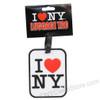 I Love NY rubber Luggage Tag