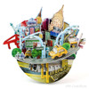 New York Cityscape 3D Puzzle Souvenir and Coin Bank