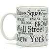 White New York Landmarks Coffee Mug