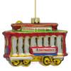 San Francisco Trolley Car Glass Ornament