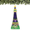 European Glass Eiffel Tower Christmas Ornament