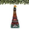 Eiffel Tower Christmas Ornaments, Handmade in Europe, Glass