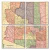 Arizona Map Coaster Set of 4