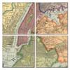 New York City Map Coaster Set of 4