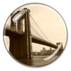 Brooklyn Bridge Skyline Crystal Paperweight