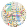 NYC Subway Map Crystal Paperweight