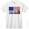 9/11 Memorial T-Shirt with Flag and NYC Skyline