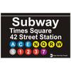 Times Square Replica Subway Sign