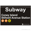 Coney Island Replica Subway Sign