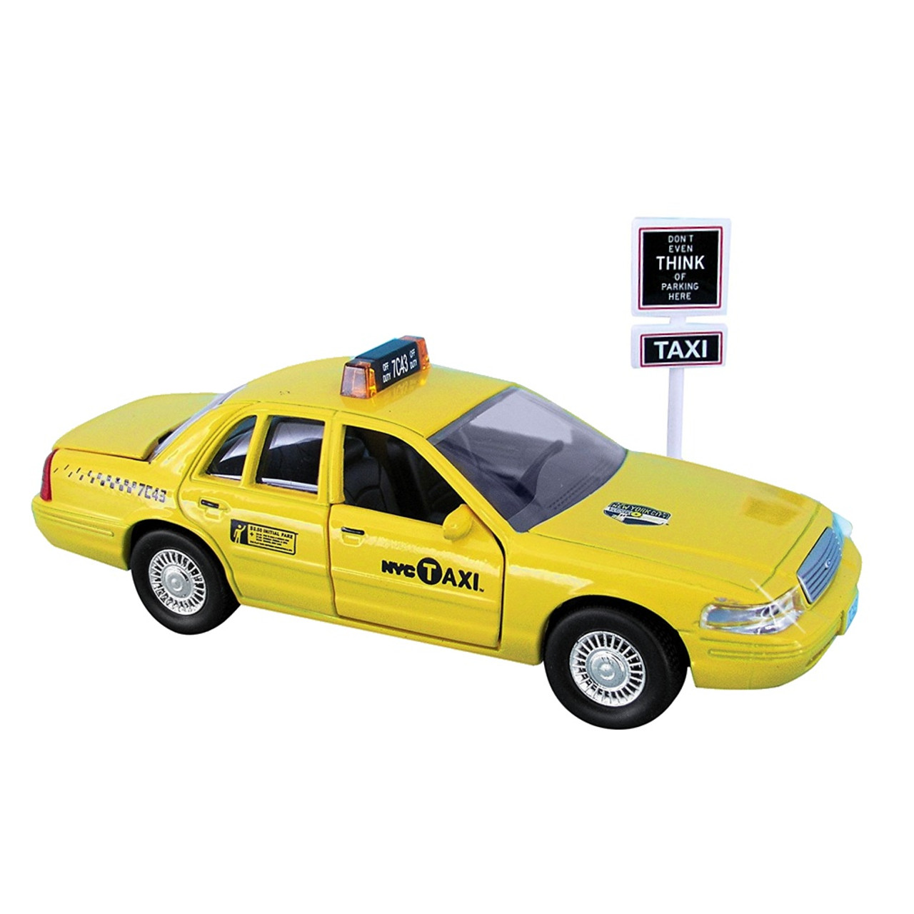 Taxi Cab And Sign Set