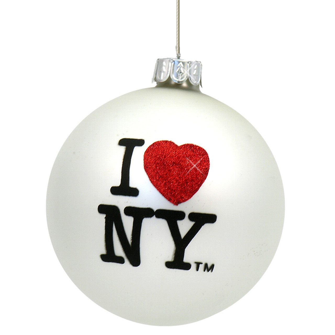 Glass Ball I Love NY Christmas Ornaments From New York City