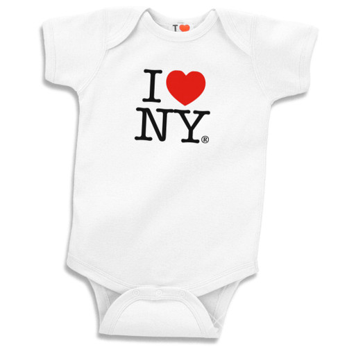White I Love NY Romper