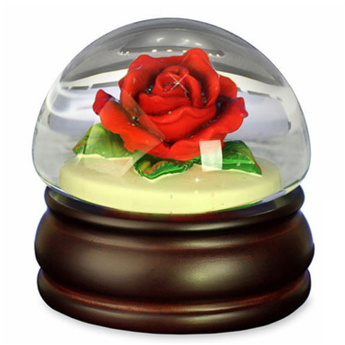 Red Rose Musical Snow Globe