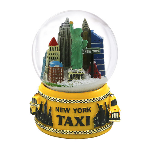 NYC Taxi Skyline Snow Globe, Waterglobe