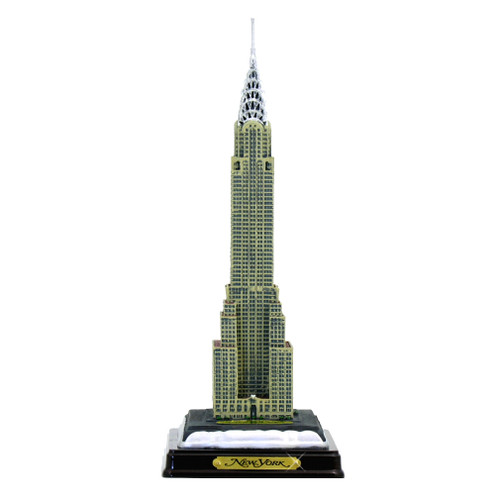 "11"" Chrysler Building w/ Wood Base"