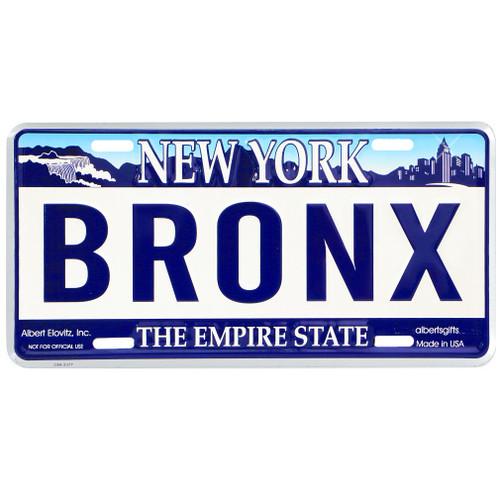 Bronx License Plate