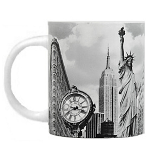 Black and White New York City Landmark Photo Mug