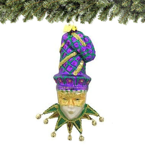New Orleans Mardi Gras Christmas Ornament