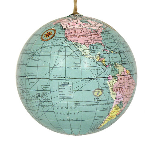 world globe ornament