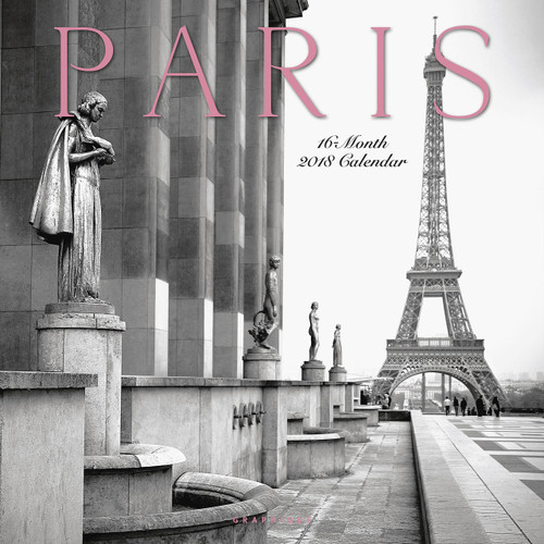 Paris Calendar, Black and White Paris Wall Calendar