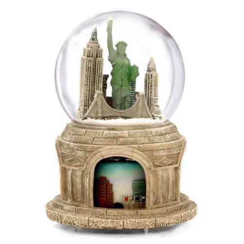 Rotating NYC Skyline Snow Globe