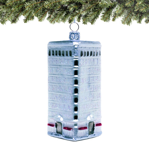 Polish glass Flatiron Building Christmas Ornament