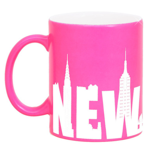 Hot Pink New York Mug