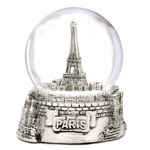 Silver Paris Snow Globes