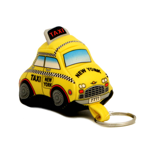 Stuffed New York City Taxi Keychain