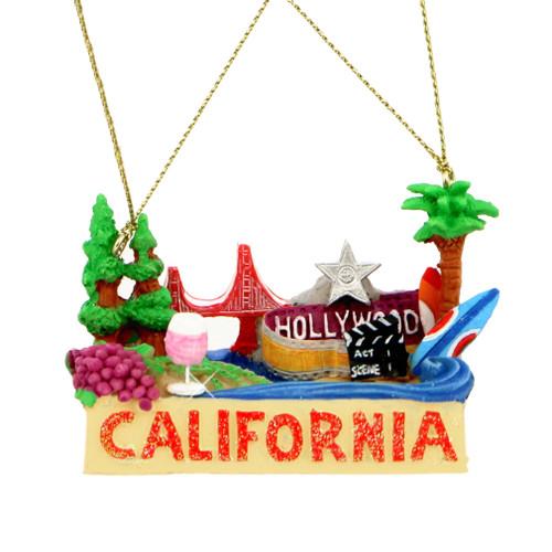 California Landmarks Christmas Ornament