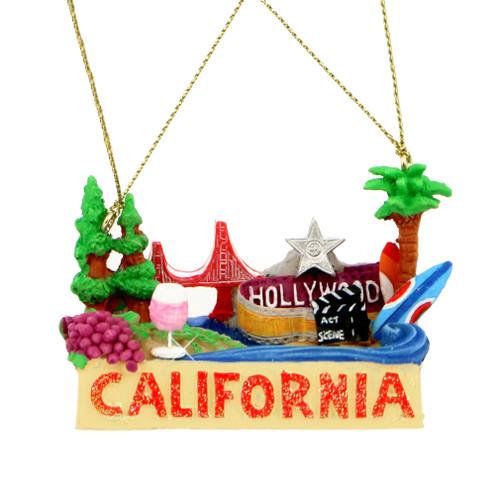 California Landmarks Christmas Ornament