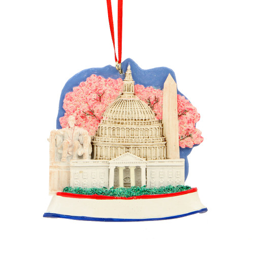 Washington, DC Landmarks Ornament for Personalization