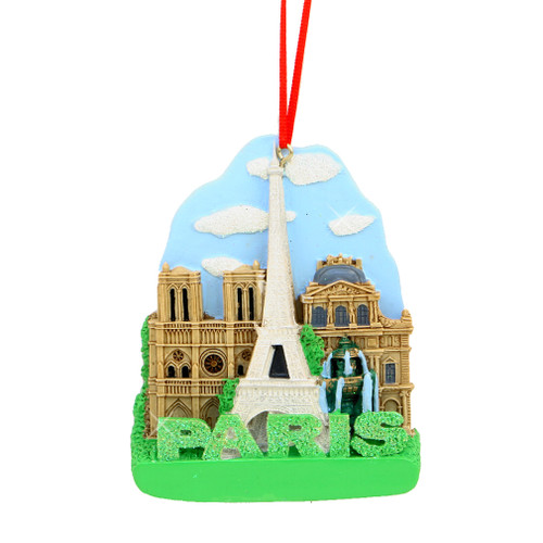 Paris Landmarks Ornament for Personalization