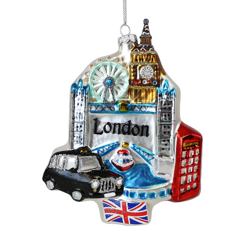 London Icons Glass Ornament