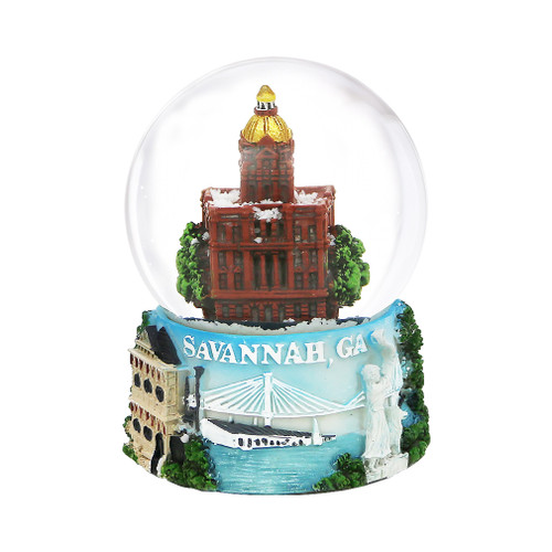 65mm Savannah, Georgia Snow Globe
