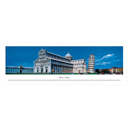 Panoramic Pisa Poster