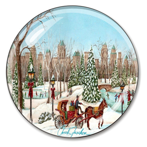 Central Park Crystal Paperweight