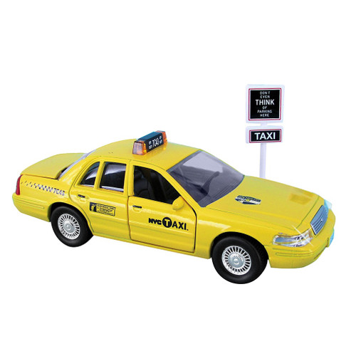 Big Toy Car Holder : Diecast nyc taxi car souvenir toy place card holder