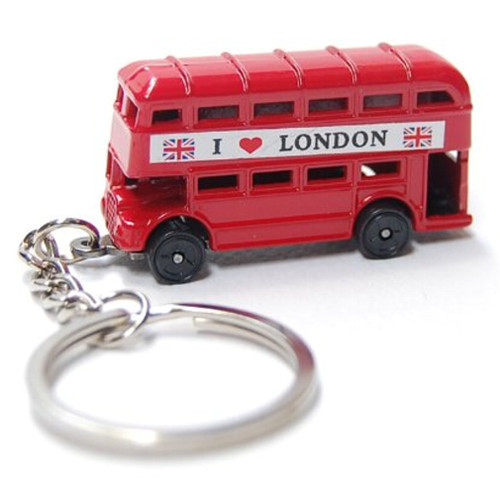london double decker bus keychain, keyring