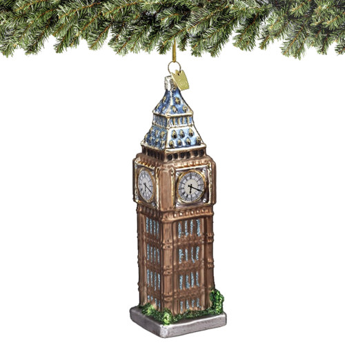 Glass Big Ben Ornaments