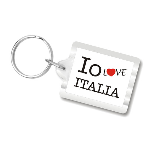 I Love Italy Key Chains, I Heart Italia