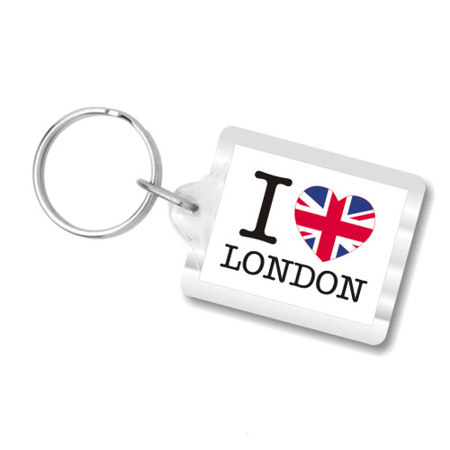 I Love London Key Chain, I Heart London